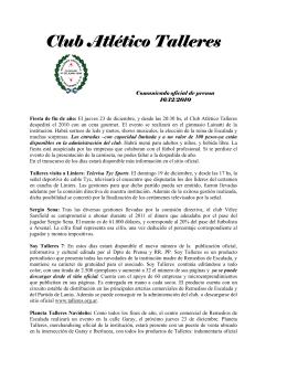 descargar comunicado - Club Atlético Talleres