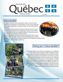 "Bienvenida Rally por ""Vieux Quebec"""