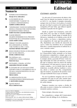 Número 50 - Octubre 2012. - Conservatorio Manuel Carra