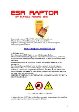 PDF: Reparaciónes uso del medidor ESR