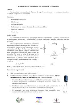 Determinación de la capacidad de un condensador