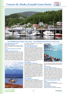 Crucero de Alaska (Canadá Costa Oeste)