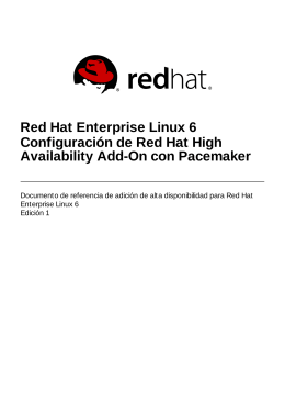 Configuración de Red Hat High Availability Add