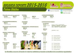 ACTIVIDADES 2015 - 2016 - DIN A4
