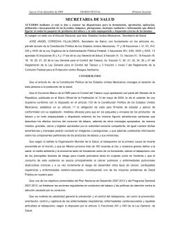 Acuerdo para Pictogramas y Leyendas de Advertencia