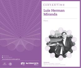 Luis Herman Miranda - Festival Internacional Cervantino