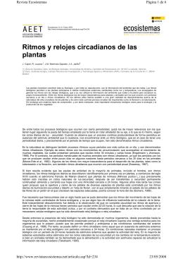Ritmos y relojes circadianos de las plantas