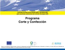 Corte y Confección - Ministerio de Educación