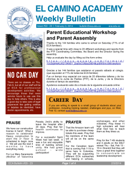 2/3 Weekly Bulletin