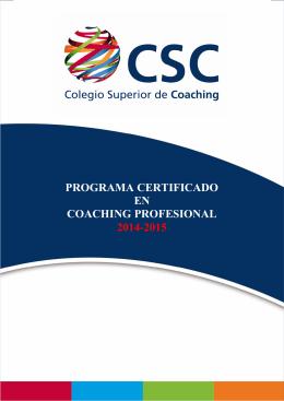 Descargar Programa en PDF - Colegio Superior de Coaching
