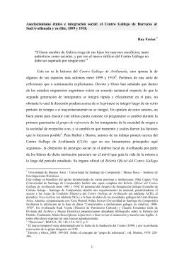 el Centro Gallego de Barracas al Sud/Avellaneda y su élite