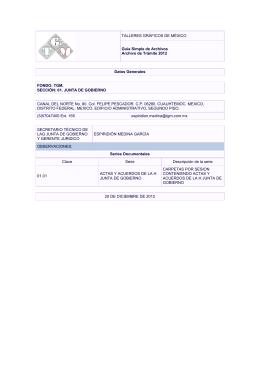 TALLERES GRÁFICOS DE MÉXICO Guía Simple de Archivos