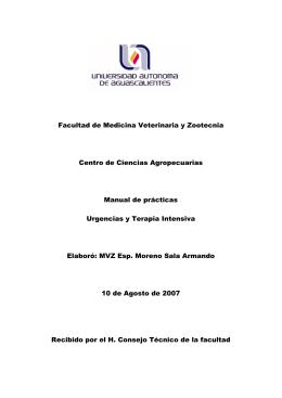 Facultad de Medicina Veterinaria y Zootecnia Centro de Ciencias