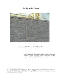 Res Gestae Divi Augusti | Augusto