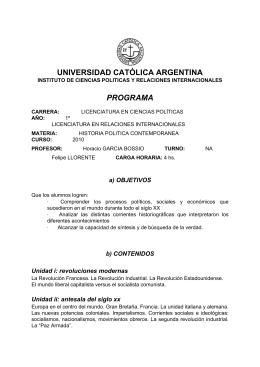 HPC - NA - Universidad Católica Argentina