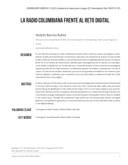 la radio colombiana frente al reto digital