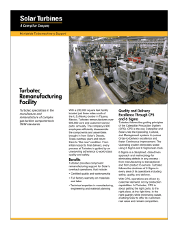 Turbotec Remanufacturing Facility