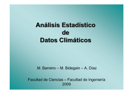Análisis Estadístico de Datos Climáticos Análisis Estadístico de