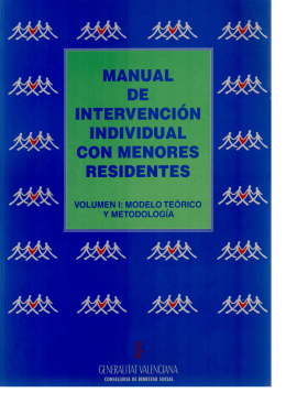 Manual de Intervención con Menores Residentes (volumen I)