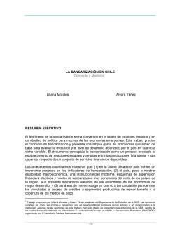 La Bancarización en Chile