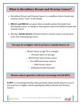 What is Hereditary Breast and Ovarian Cancer?