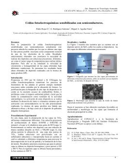 Celdas fotoelectroquímicas sensibilizadas con semiconductores.
