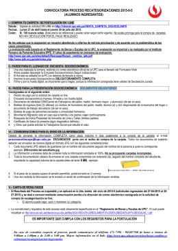 alumnos ingresantes - Universidad Peruana de Ciencias Aplicadas