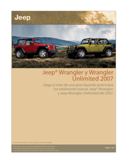 Jeep® Wrangler y Wrangler Unlimited 2007