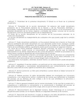 Ley 734 de 2002 - Universidad Nacional de Colombia