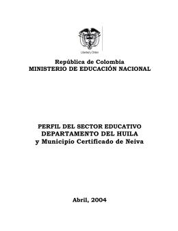 Informe Huila - Ministerio de Educación Nacional