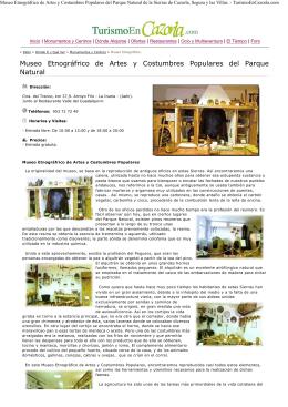 (Museo Etnogr\341frico de Artes y Costumbres Populares del
