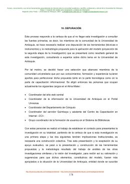 Depuración - Universidad de Antioquia