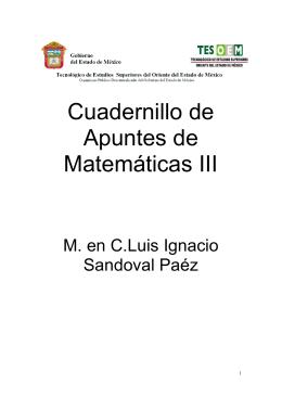 Cuadernillo de Apuntes de Matemáticas III
