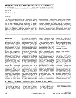 Determinación de carbohidratos solubles en pedicelo