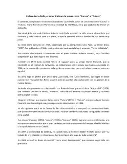 """Fallece Lucio Dalla, el autor italiano de temas como """"Caruso"""" o"""