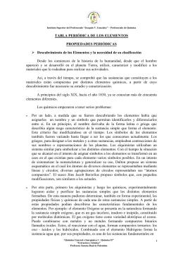 TABLA PERIÓDICA DE LOS ELEMENTOS PROPIEDADES
