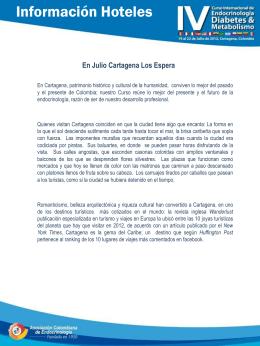 Información Hotelera - Asociación Colombiana de Endocrinología