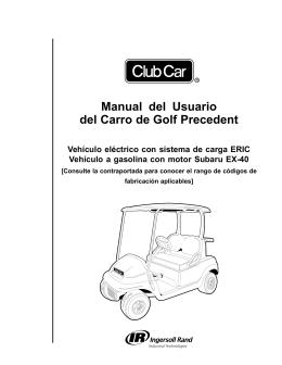 Manual del Usuario del Carro de Golf Precedent