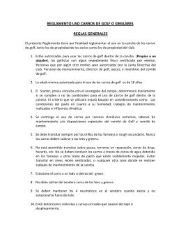 REGLAMENTO USO CARROS DE GOLF