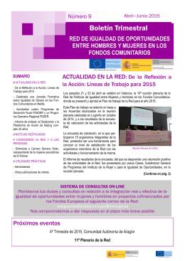 Boletín nº 9, abril-junio 2015 - Igualdad de Género Fondos
