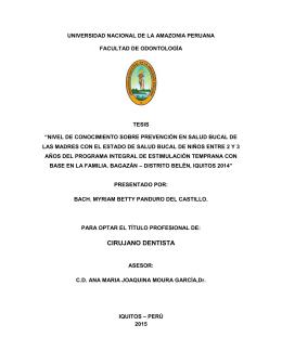 CIRUJANO DENTISTA - Universidad Nacional de la Amazonía