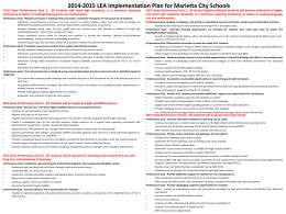 2014-2015 LEA Implementation Plan for Marietta City Schools
