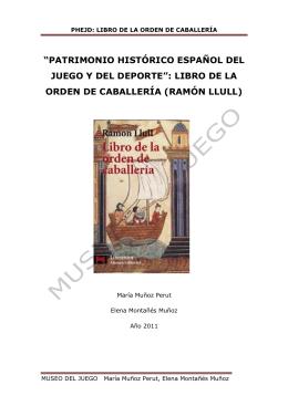 libro de caballería (ramón llull, s. xiii)