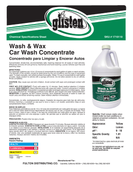 Wash & Wax Car Wash Concentrate