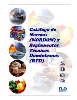 Catálogo de Normas (NORDOM) - Instituto Dominicano para la