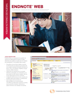 EndNote Web Quick Reference Card - Spanish