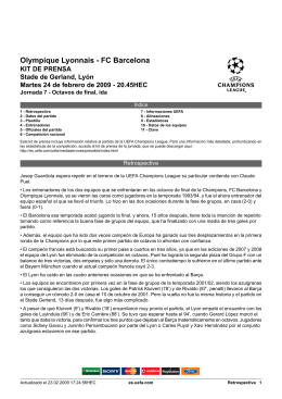 Olympique Lyonnais - FC Barcelona