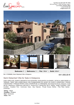 Semi Detached Villa for Sale in Estepona