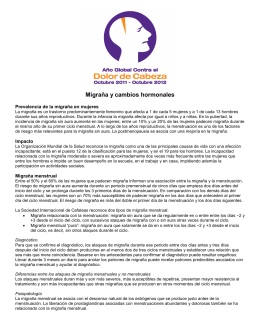 Migraña y cambios hormonales - International Association for the