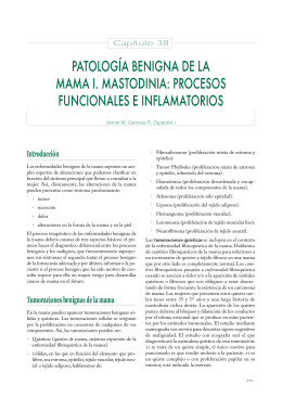 patología benigna de la mama i. mastodinia: procesos